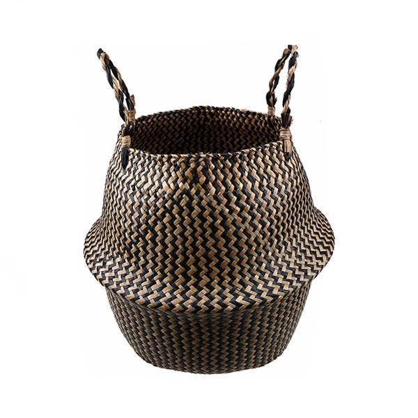 WooCar - Natural Woven Seagrass Basket Brown - The Fancy Place