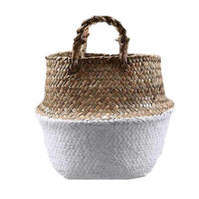 Load image into Gallery viewer, WooCar White - Natural Woven Seagrass Basket - The Fancy Place