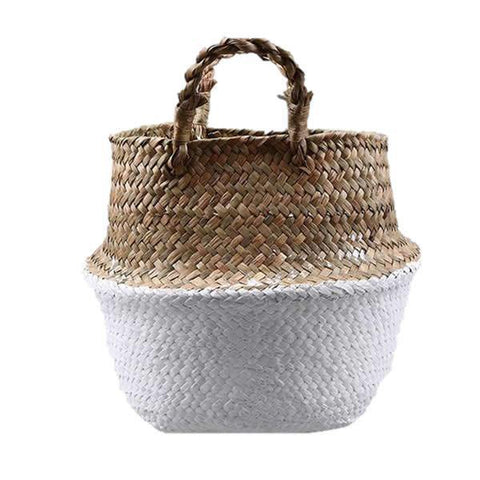 WooCar White - Large Laundry Basket in Woven