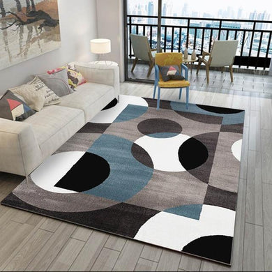 black living room rug, blue rug living room, living room rug ideas , living room rug placement, geometric rug,home decor, home decor ideas, cheap home decor