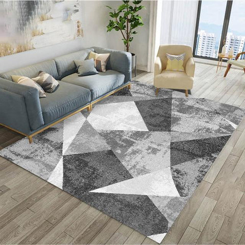 Aladin - Grey And White Geometric Rug