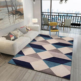 Aladin - Blue And White Geometric Rug