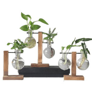 thefancyplace - hydroponic industrial hanging plant stand glass planter planter