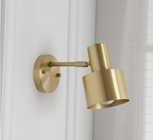 Load image into Gallery viewer, golden wall mount light fixture for bathroom, indoor or outdoor