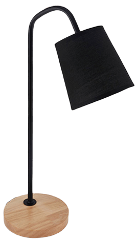 Likstä Contemporary Table Lamp Black