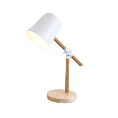 Contemporary Bedside Table Lamp Tusens White