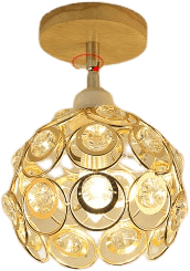 Familj Gold Flush Mount Ceiling Light 95