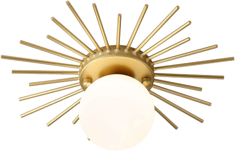 Flush Mounted Fotvår Gold Ceiling Light 126
