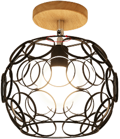 Hästsn Flush Mounted Ceiling Light Black