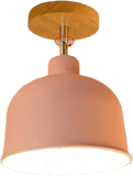Naturl Pink Semi Flush Mount Ceiling Light For Bedroom 54