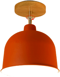 Naturl Flush Mounted Ceiling Light Red