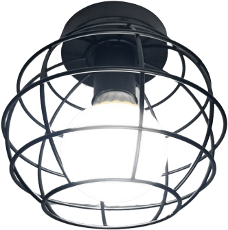 Visste Black Tropical Flush Mount Ceiling Light 76