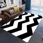 Avlägsen Geometric Rug Black And White