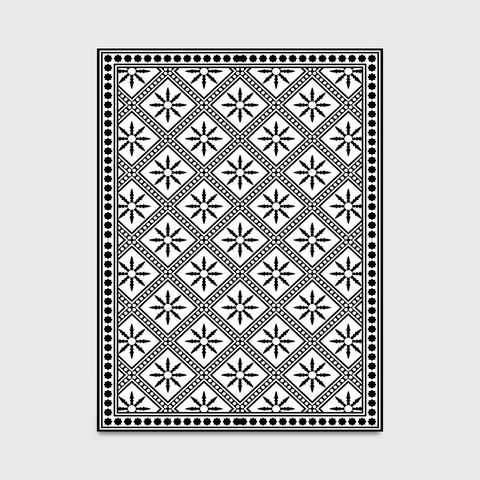 Hetta Geometric Rug Black And White