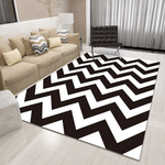 Kraft Geometric Rug Black And White