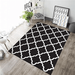 Likställa Geometric Rug Black And White