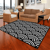 Måla Geometric Rug Black And White