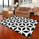 Öst Geometric Rug Black And White