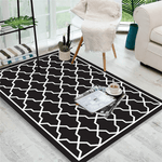 Plan Geometric Rug Black And White