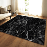 Snö Geometric Rug Black And White