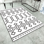 Stead Geometric Rug Black And White