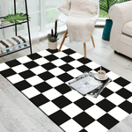 Tusen Geometric Rug Black And White