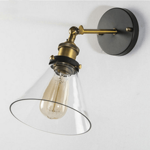 Load image into Gallery viewer, bathroom wall light fixtures with golden head and glass for living room and outdoor