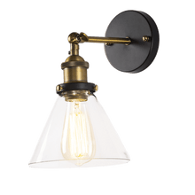 Load image into Gallery viewer, stained glass wall light with golden stand and gold head for kitchens or hallway