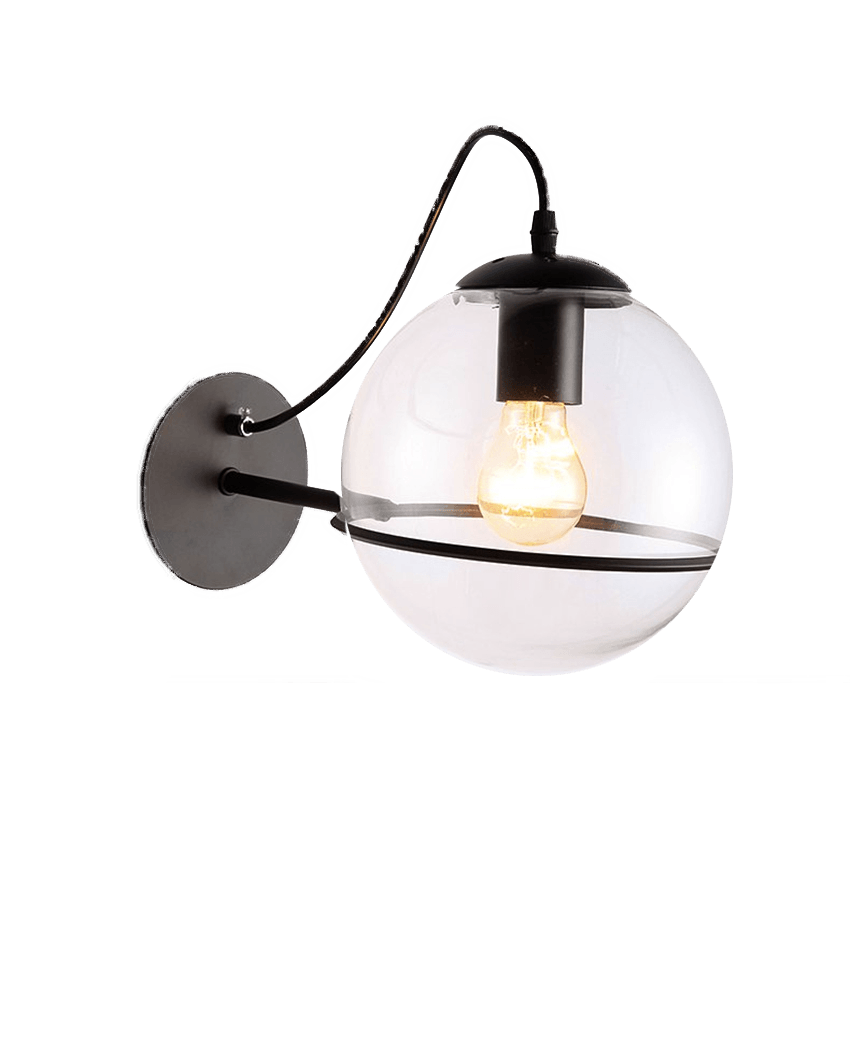 glass wall light glass globes for wall lights with black stand and edison bulb for kitchen living room or outdoor