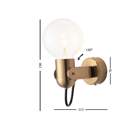 Semä Gold - Wall Lamp With Swing Arm
