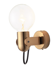 Load image into Gallery viewer, golden bathroom wall light sconces with golden stand for bathroom