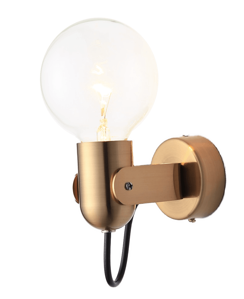 golden bathroom wall light sconces with golden stand for bathroom