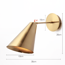 Load image into Gallery viewer, bathroom wall light fixtures measurement, with golden color for living room