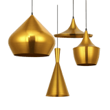 Antals Hanging Light Fixture Gold