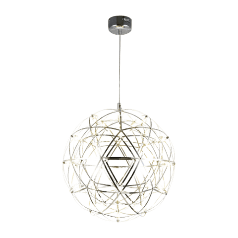 Hanging Light Fixture Over Dining Room Table - Dessah Silver