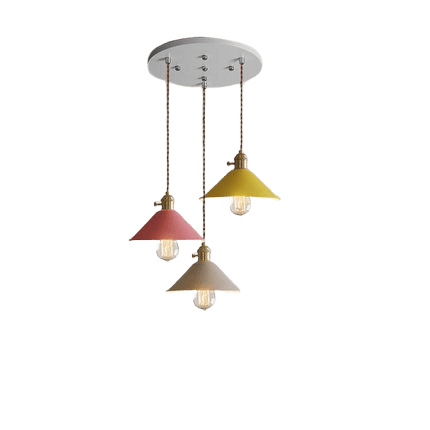 Three Light Hanging Fixture - Långth MultiColor