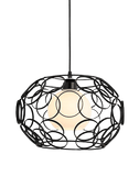 Morvär Hanging Light Fixture Black