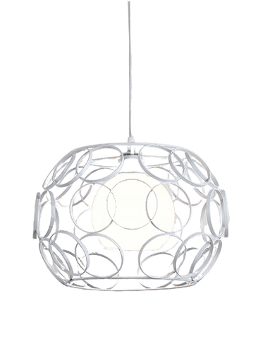 Hanging Light Fixture Small - Morvär White