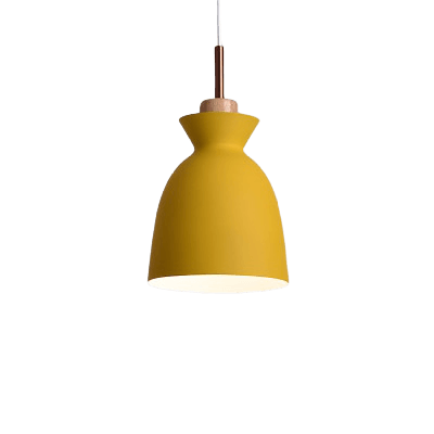Namnmy Hanging Light Fixture Orange