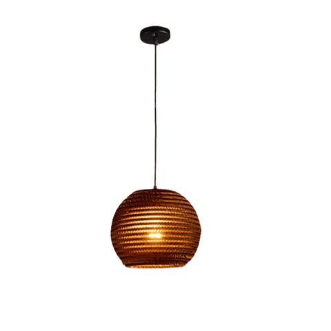 Nersid Hanging Light Fixture Brown