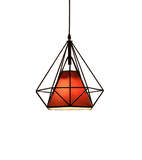 Nyarbe Hanging Light Fixture Black & Red