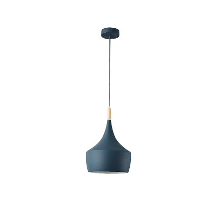 Sakse Hanging Light Fixture Blue