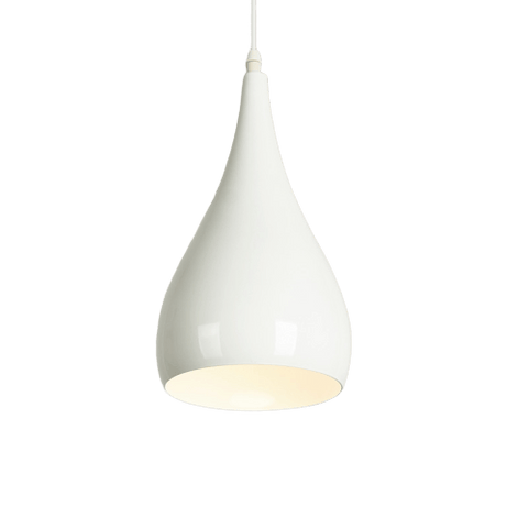 Hanging Light Fixture for Kitchen Table - Vatten White