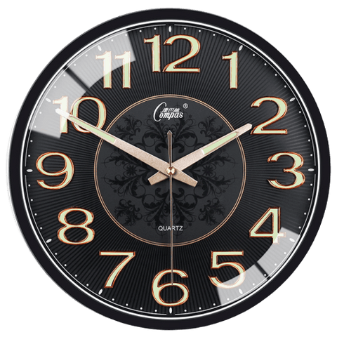 Anteck Large Modern Wall Clock Black