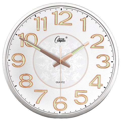 Anteck Large Modern Wall Clock White