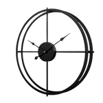 Bättre Large Modern Wall Clock Black