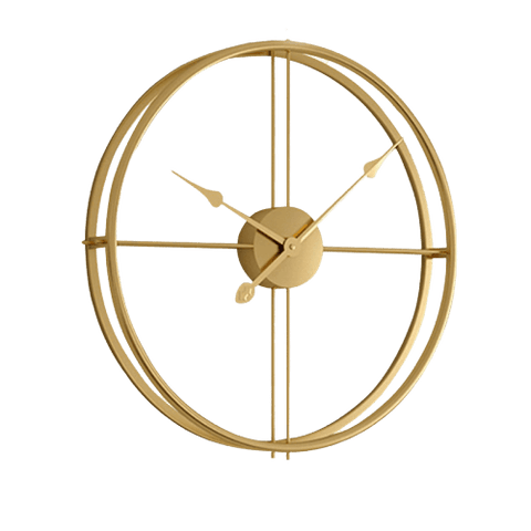Bättre Large Modern Wall Clock Gold
