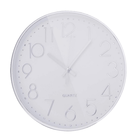 Femmin Large Modern Wall Clock White