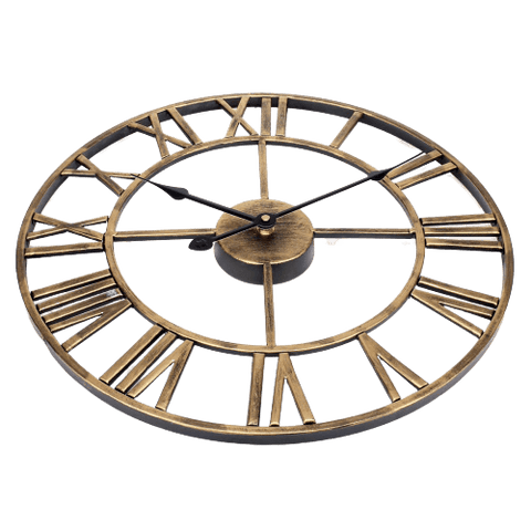 Finvis Large Modern Wall Clock Gold