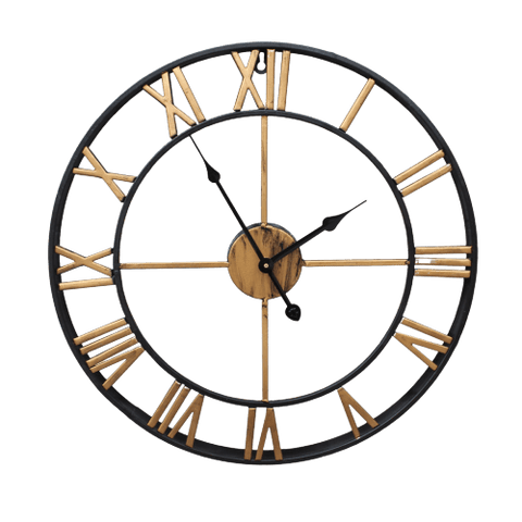 Krafts Large Modern Wall Clock Gold